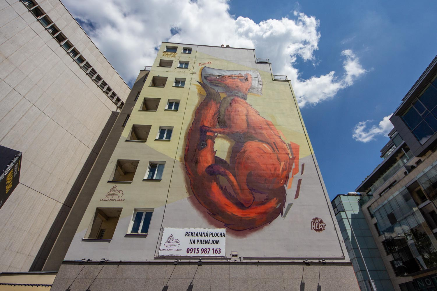 If you're doing bratislava on a budget, do a free walking tour and see all the murals, like this fox