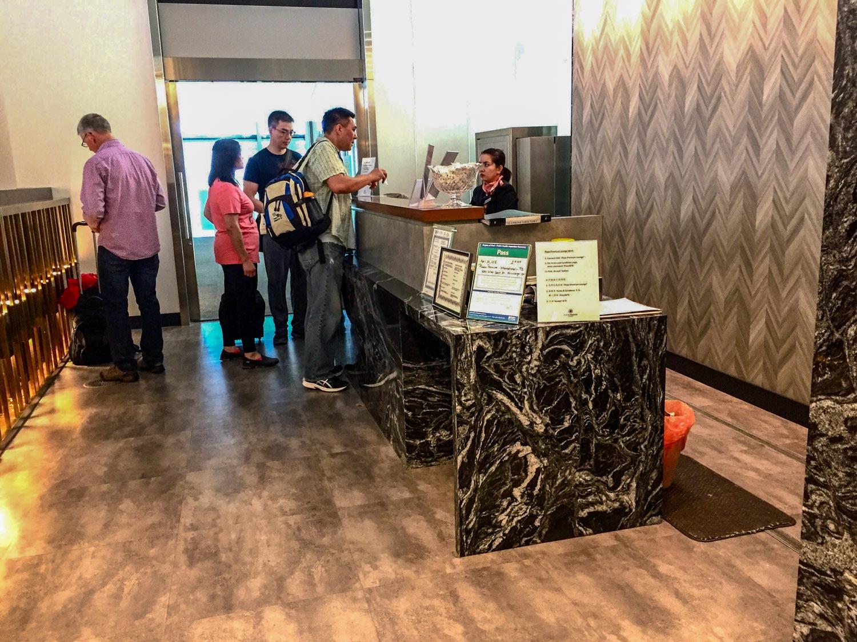 Plaza Premium International Terminal 1 reception