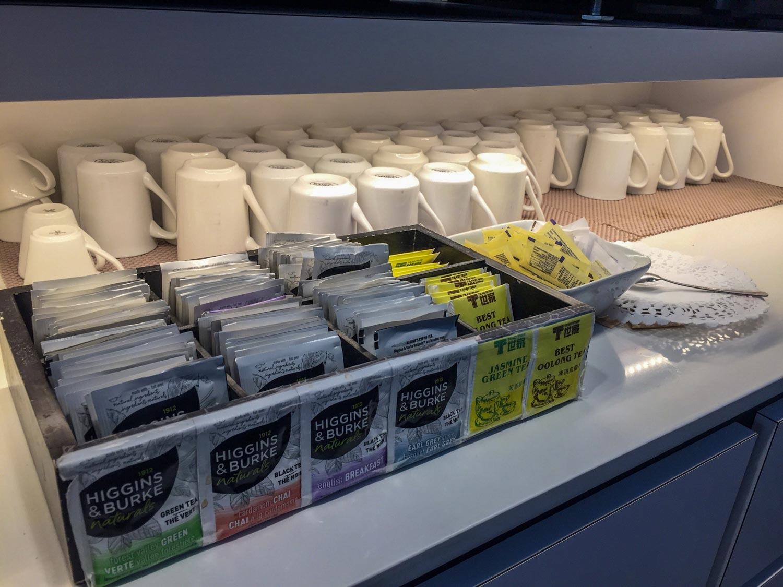 Plaza Premium International T1 tea selection
