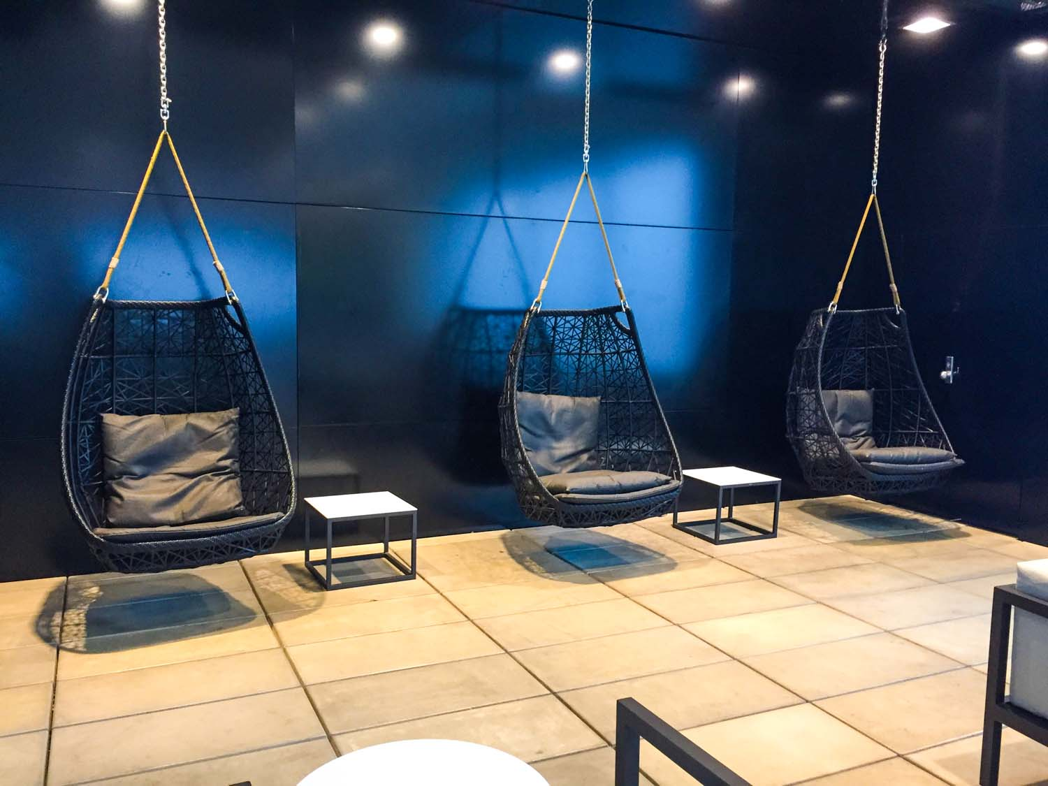Air New Zealand International Lounge auckland swing chairs