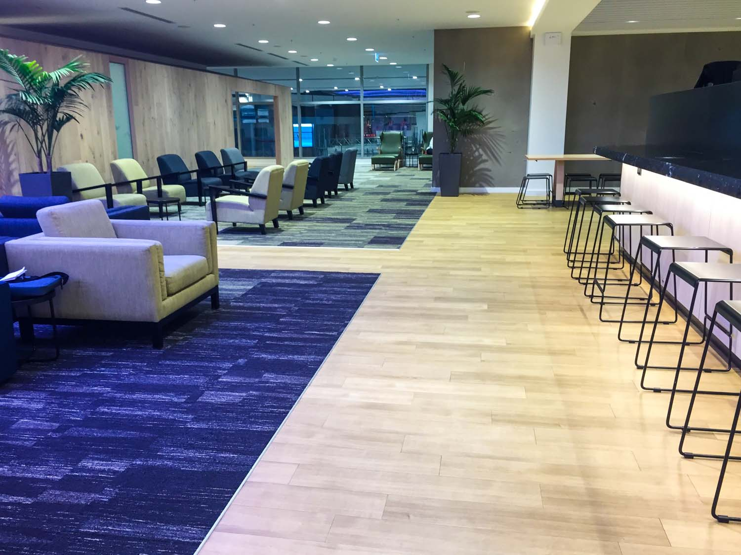 Strata Lounge auckland airport - openness