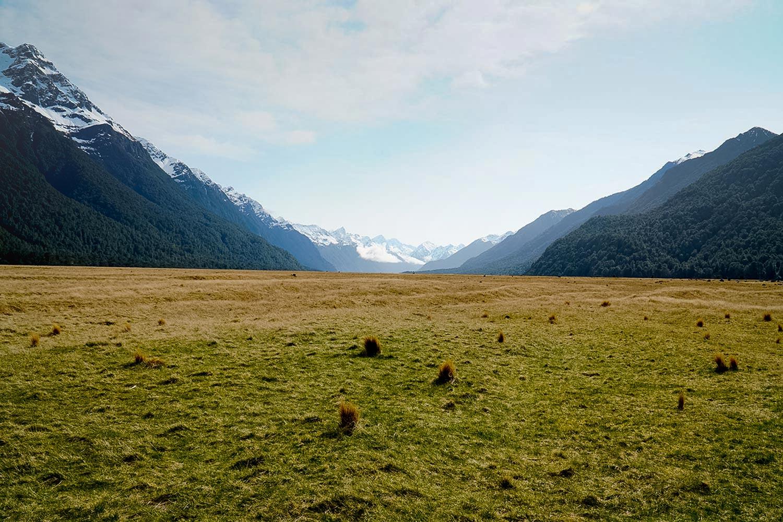 Eglington Plains in Fiordland National Park