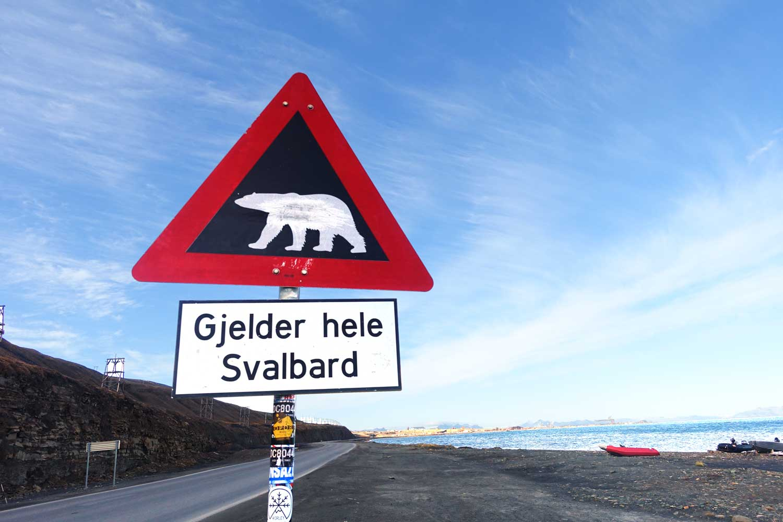 Svalbard Hotel - polar bear sign