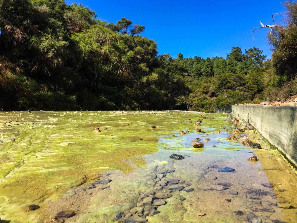 A river at Wai-O-Tapu. Looks deceptive.