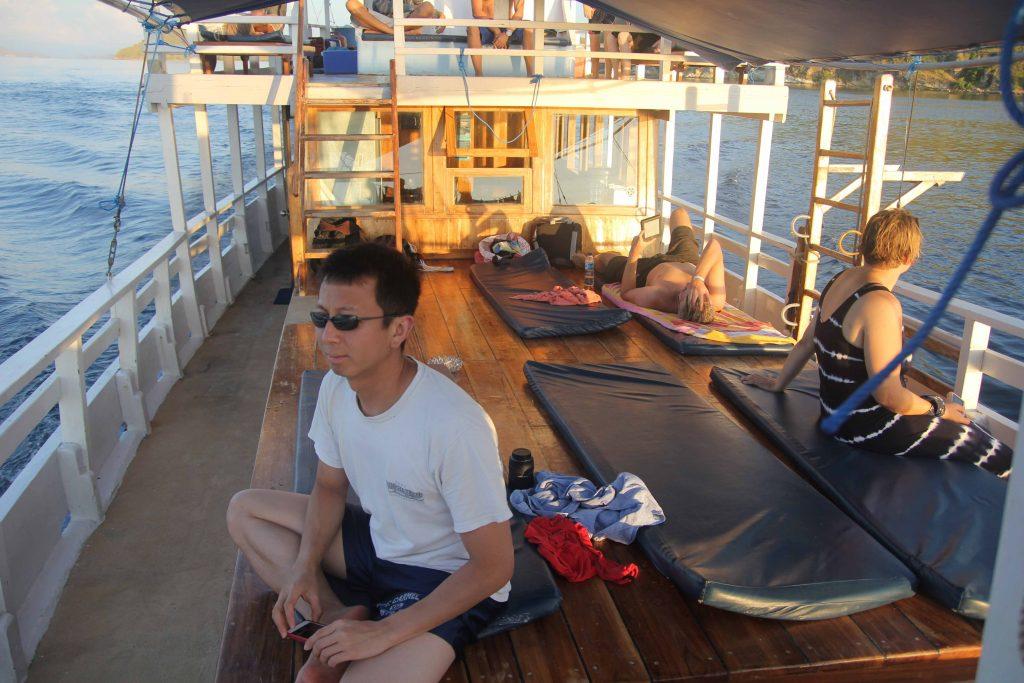 Halef on the deck of the Tatawa