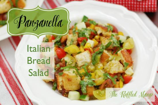 Panzanella: Italian Bread Salad. Super yum!!