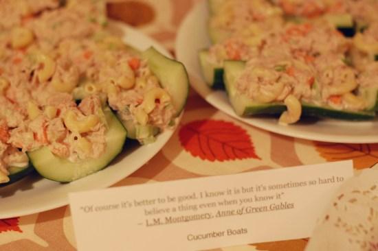 6. Cucumber boats