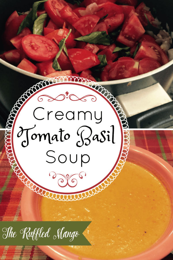 A perfectly delicious soup for early fall, when the evenings are a bit cooler but basil is still to be had.