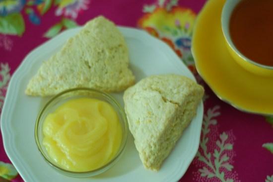 13. Orange scones and tea