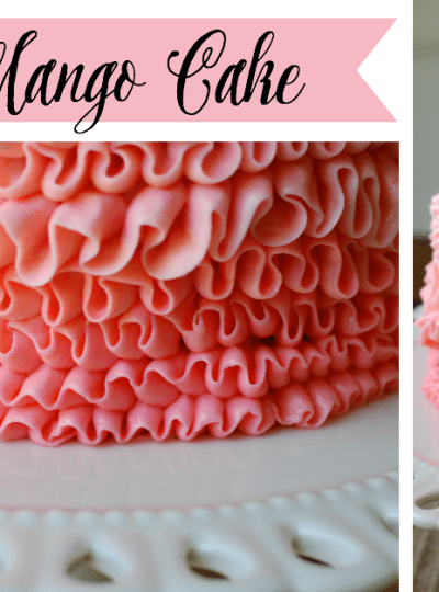 A Ruffled Mango Cake for Our First Blogiversary