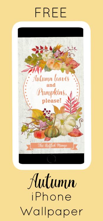 If it's still too warm where you are, you'll especially want to take advantage of this autumn iPhone wallpaper freebie. Somehow, it brings the hot Southern temps down a degree whenever someone installs it. ;)