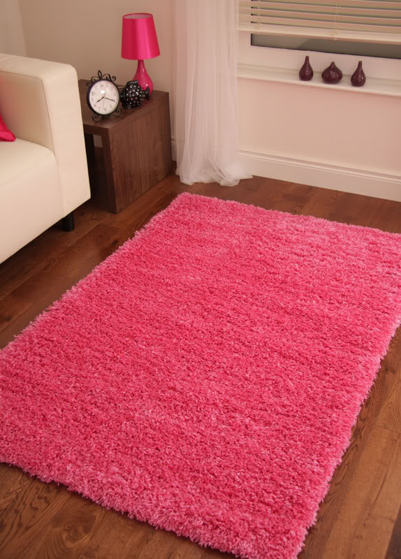 Pink Barbie Fuchsia Small Rug Shaggy Area Carpet Shag Simple Pile Rugs Stockholm  eBay