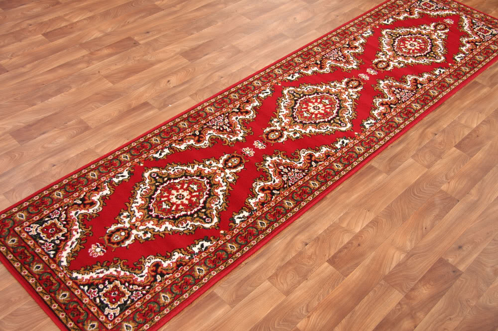 Traditional Floral Red Cottage Style Long Hall Runner Rugs Cheap Carpet Mats NEW  eBay