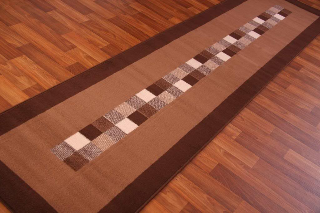 Runner Rug Dark Chocolate Brown Modern Long Hall Cheap Carpet Mats New  9 Sizes  eBay