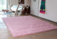 Soft Baby Pink Children's Shaggy Rug Quality Cheap Chunky ...