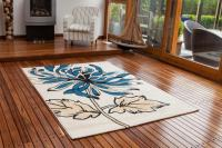New Small Large Floral Modern Rugs Quality Easy Clean Teal ...
