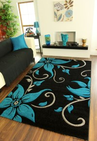 Black And Teal Rugs - Pussy Fisting