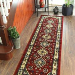 Non Slip Kitchen Rugs Cost Of Remodelling A Cherry Deep Red Beige Green Traditional Afghan Style ...