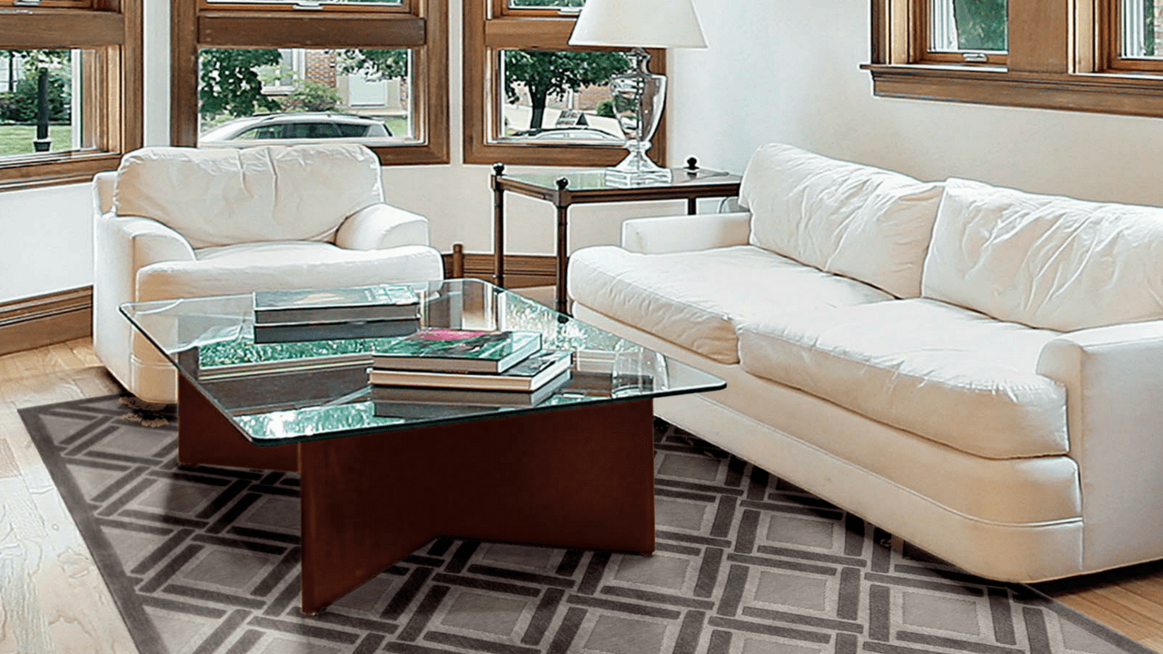 rug in living room vastu shastra colors how to position a size shape matter graphic illusions