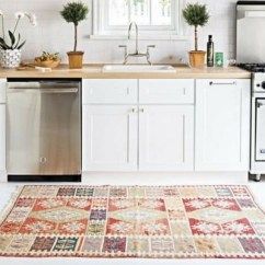 Best Rugs For Kitchen Countertop Ideas On A Budget How To Choose The Rug Seller In White With Wooden Worksurfaces And Vintage Patchwork Orange