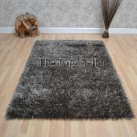 Serena Shaggy Rugs in Taupe - Free UK Delivery - The Rug ...