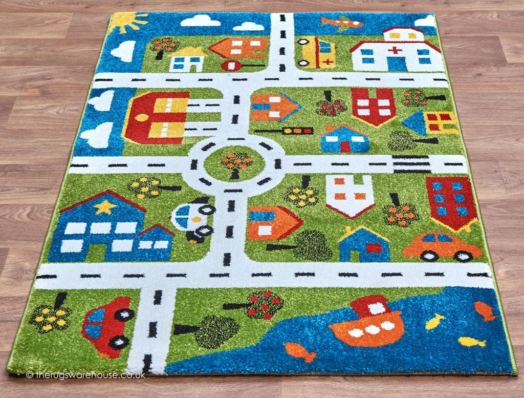 Town Map Rug  Kids Rugs