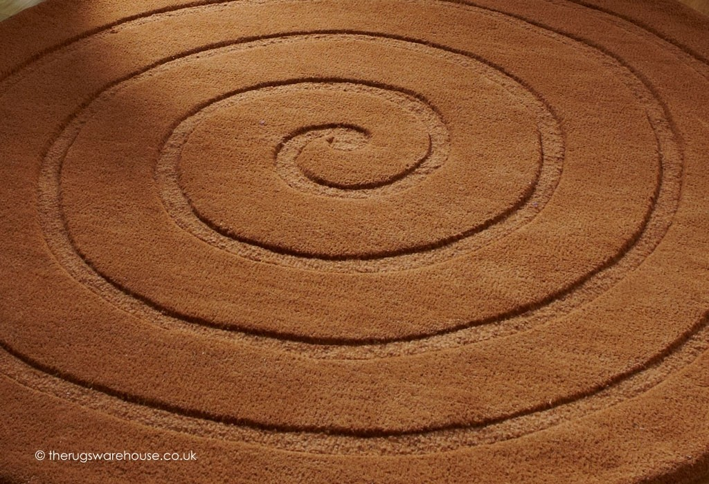 Spiral Brown Rug