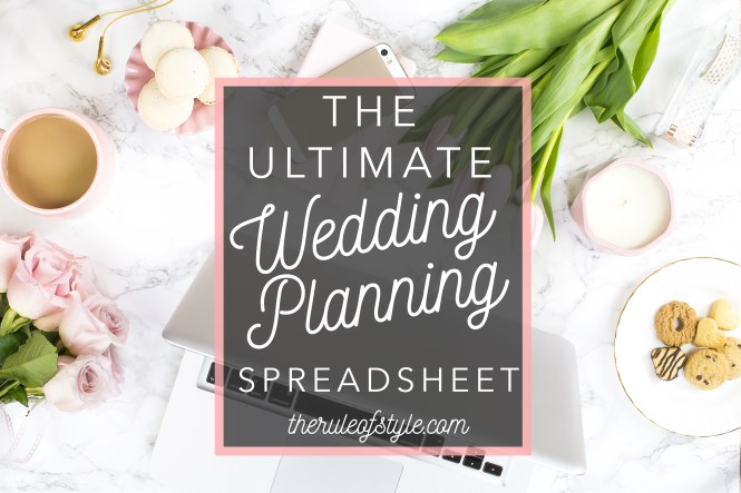 the ultimate wedding spreadsheet free download