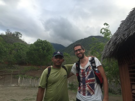 Me and my guide before the climb
