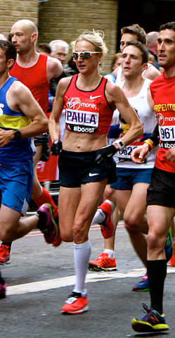 Paula Radcliffe during her last race in 2015