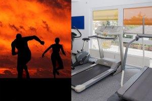 outdoor treadmill running
