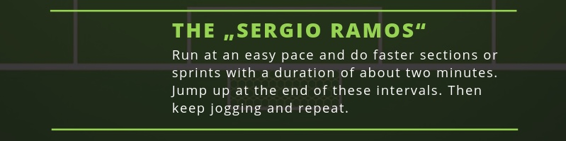 The Sergio Ramos variation of the soccer run workout