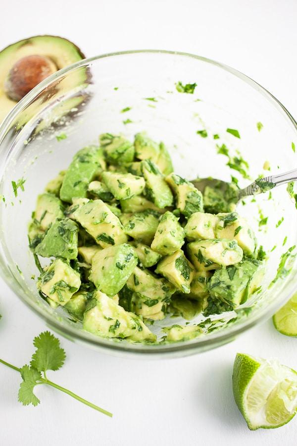 avocado salsa in bowl