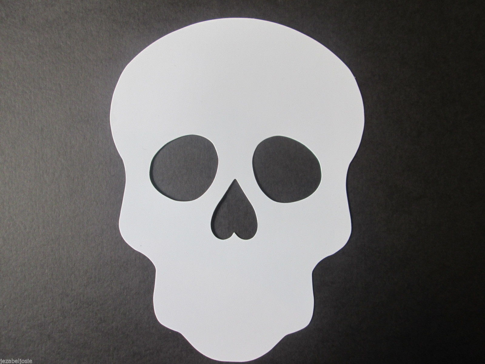 Large Skull White Cut Mask Day Of The Dead Halloween