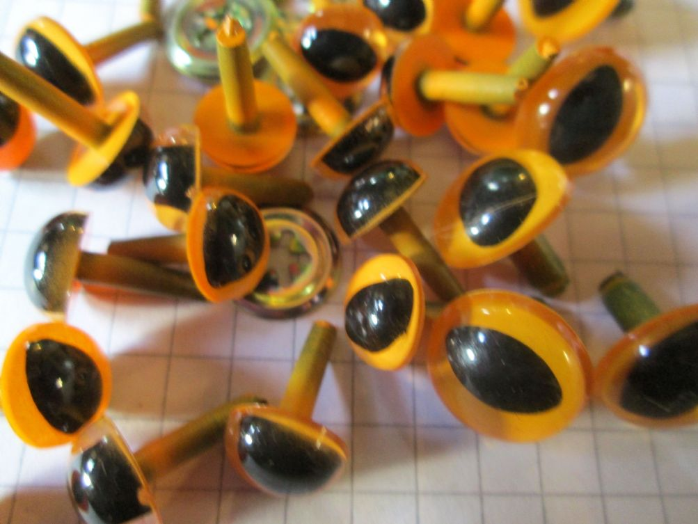 Yellow Cat Craft Eyes Safety Eyes For Toys Choice Of Size