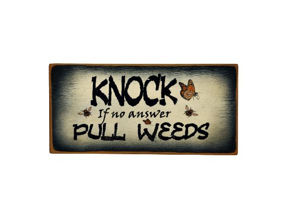Knock Pull Weeds (black)