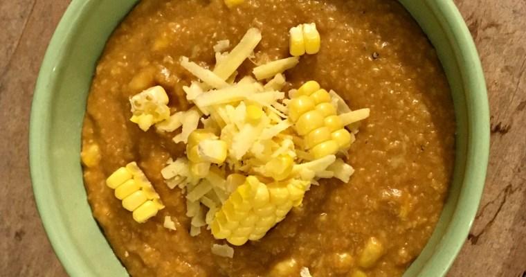 Creamy White Cheddar Polenta + Fresh Corn