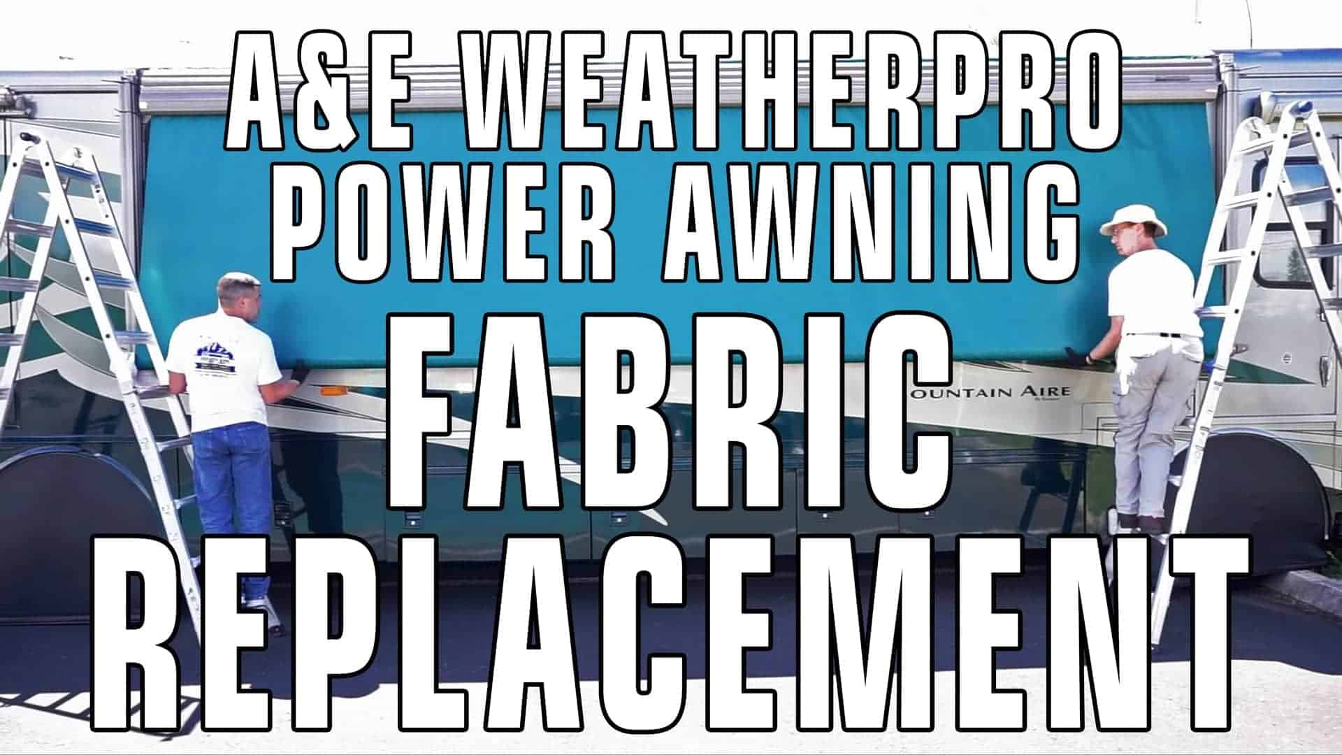 How To Replace An A Amp E Dometic Weatherpro Power Awning