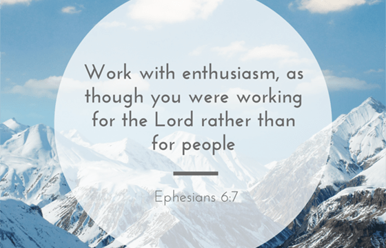 Work with Enthusiasm