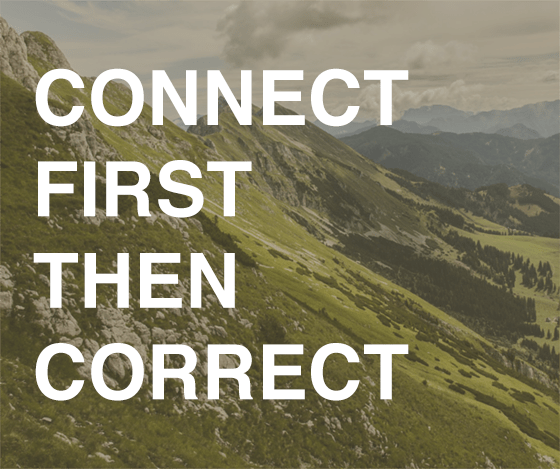 Connect first then correct