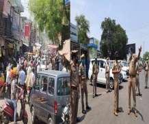 मेरठ और आसपास के जिलों में कोरोना कर्फ्यू की उड़ी धज्जियां, बाजारों में उमड़ी भारी भीड़, सड़कों पर उतरे अफसर