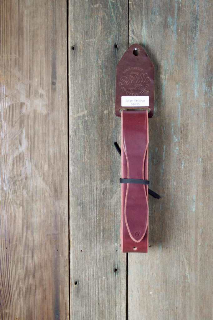 Latigo Tie Strap Close-Up