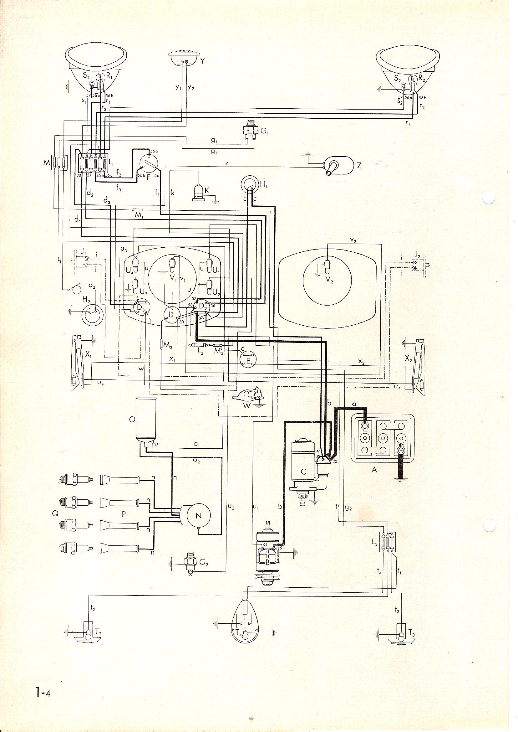 Beetle Fuse Box Diagram Thesamba Com Type 1 Wiring Diagrams
