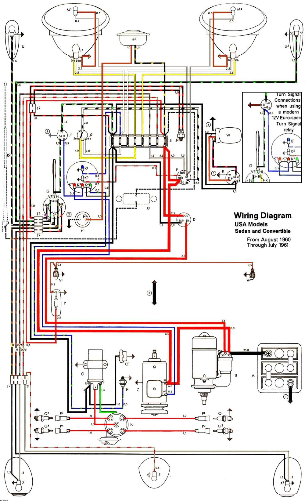 medium resolution of thesamba com type 1 wiring diagrams 70 vw bug turn signal wiring