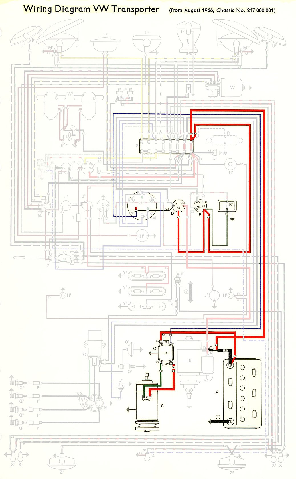1970 vw type 2 wiring diagram 1991 4l80e thesamba diagrams