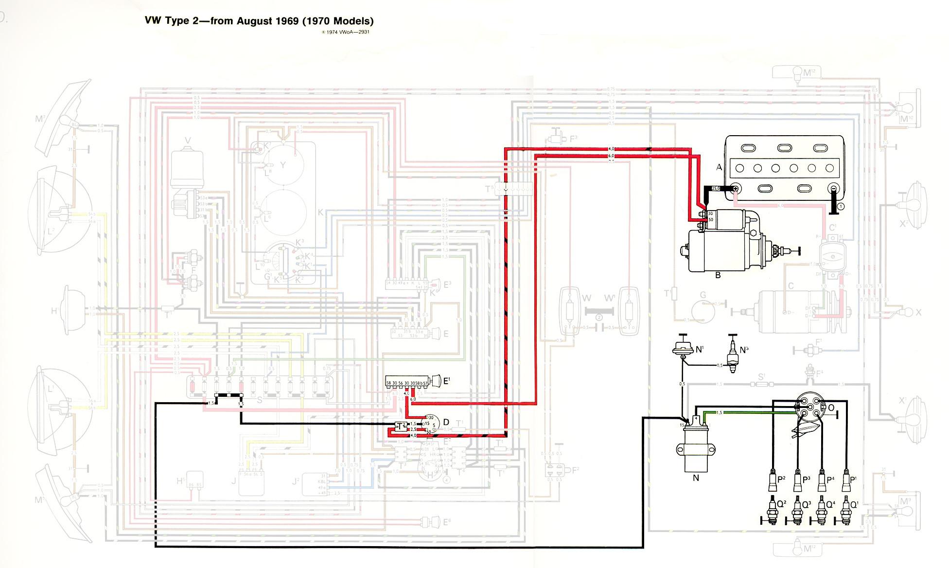 1970 vw type 2 wiring diagram mitsubishi eclipse radio thesamba diagrams