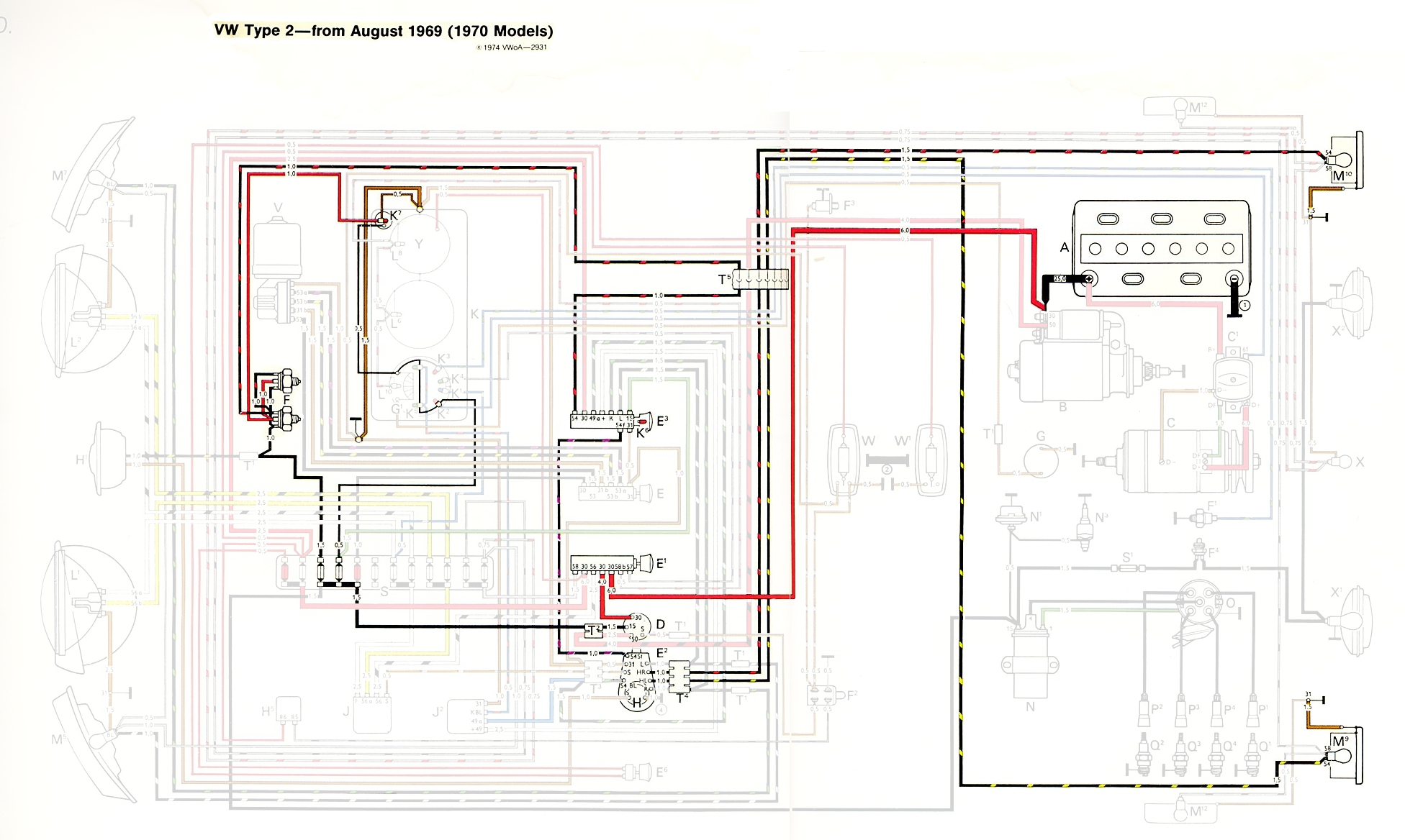 vw charging system wiring diagram volleyball positions 6 2 thesamba type diagrams
