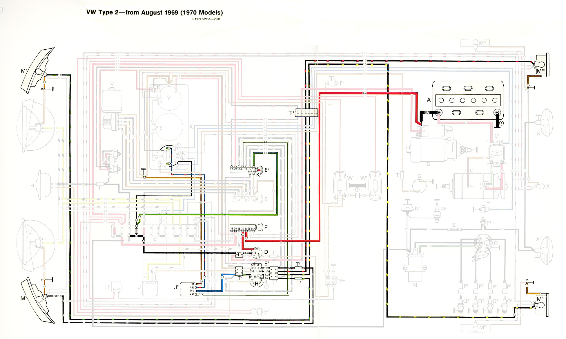 hight resolution of thesamba com type 2 wiring diagrams 1958 vw van wiring diagram