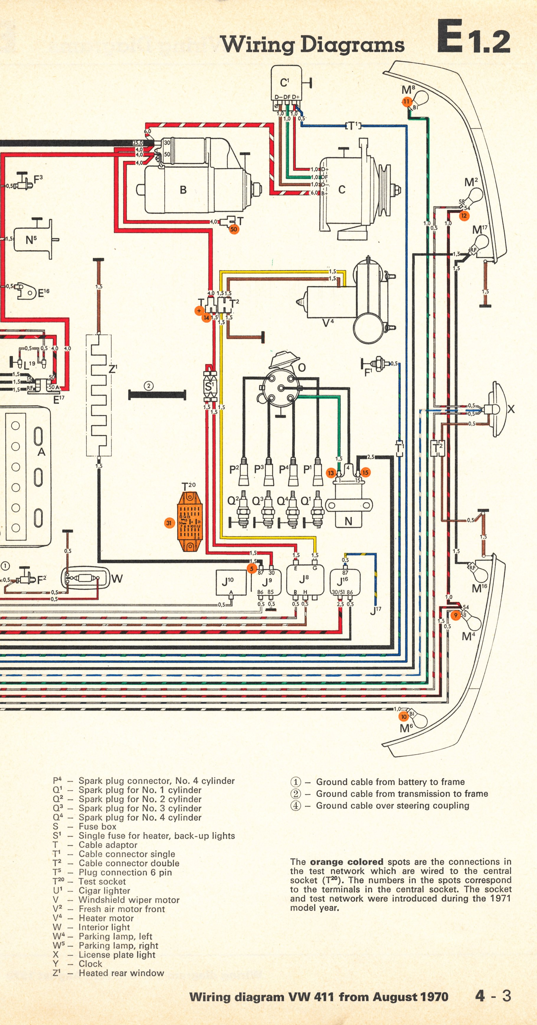 Ghia Wiring Diagram Thesamba Com Type 4 Wiring Diagrams