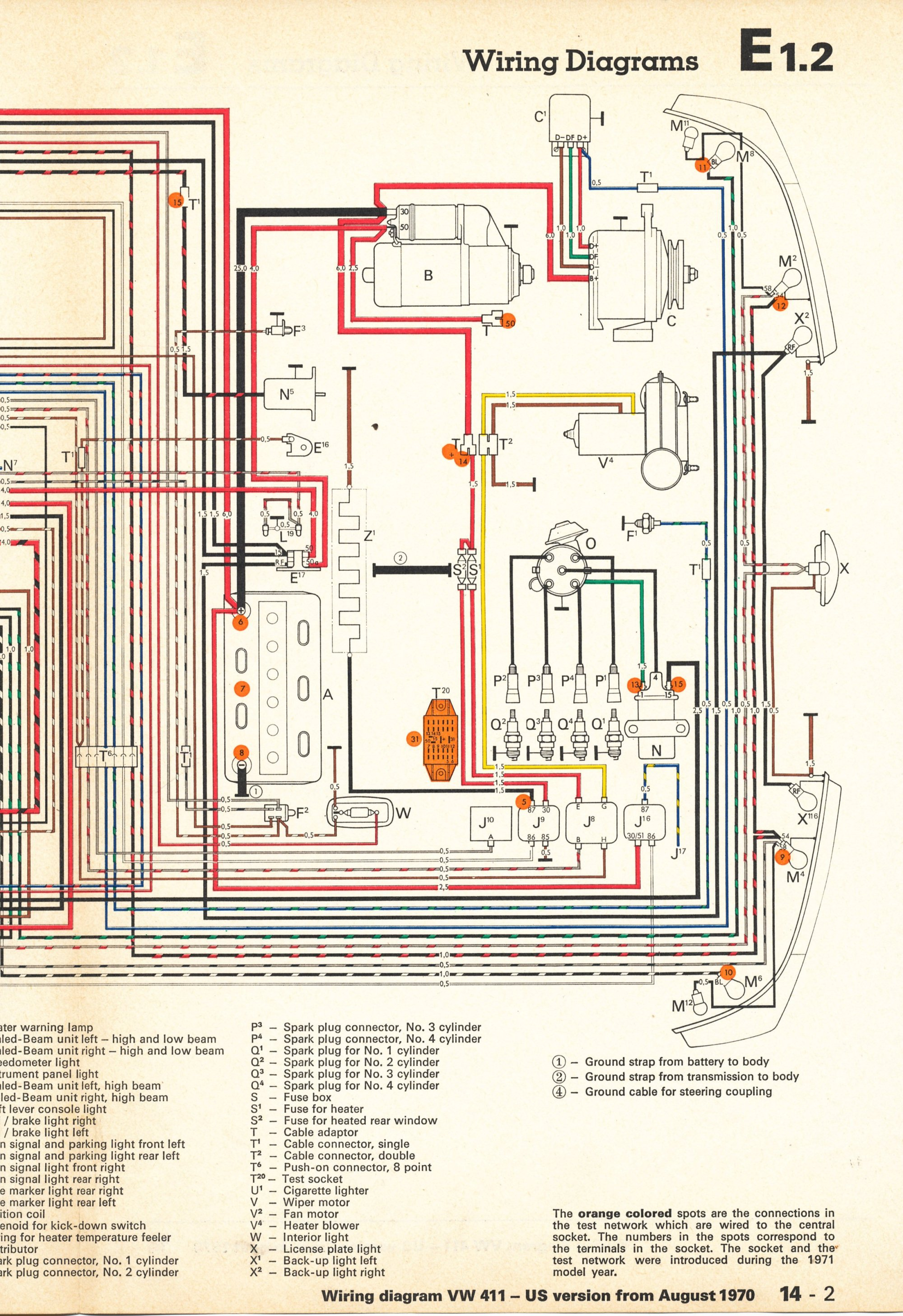hight resolution of wrg 5461 vw 411 412 fuse boxthesamba com type 4 wiring diagrams 1971 411